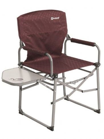 Outwell Camping Chair Picota with Side Table Claret